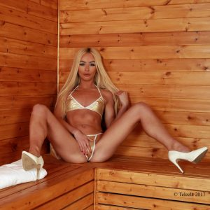 Hot in the sauna